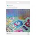 Feuilles adhésives confettis holographiques imprimables